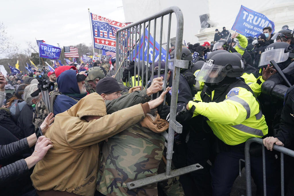 The mob protests on the U.S. capitol were aided by many alt-right sites. Photo: MCT