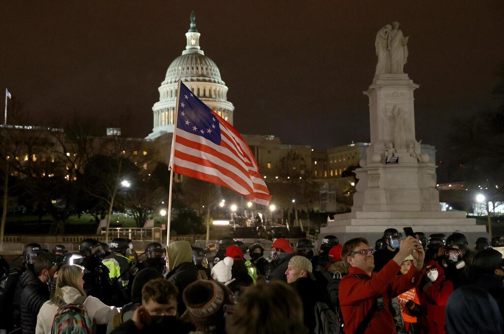 מהומות בוושינגטון , צילום: גטי
