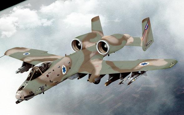 A10 בצבעי חיל האוויר הישראלי (אילוסטרציה)