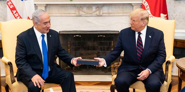 דונלד טראמפ ובנימין נתניהו בבית הלבן בספטמבר האחרון, צילום: Official White House