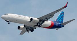 """מטוס בואינג 737 של חברת התעופה """"סריוויג'איה אייר"""", צילום: שאטרסטוק"""