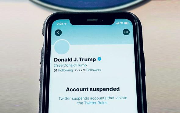החשבון המושעה של דונלד טראמפ בטוויטר