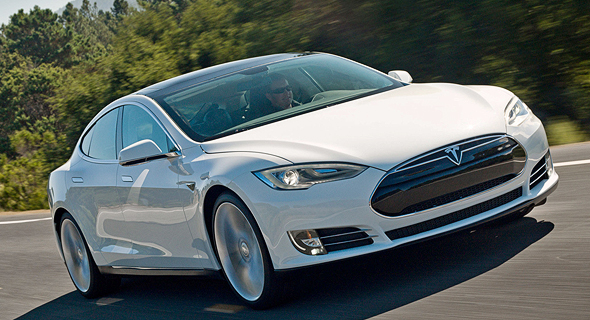 One of Tesla's electric cars, the model S. Photo: Tesla