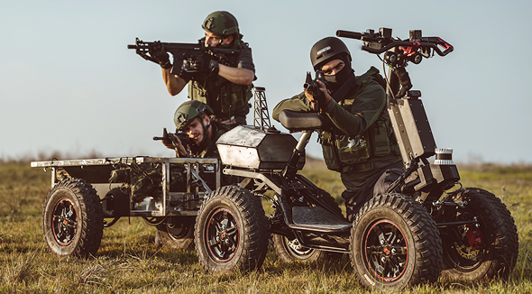 Soldiers can use the EZRaider electric ATV for a range of missions. Photo: Benny Deutsch