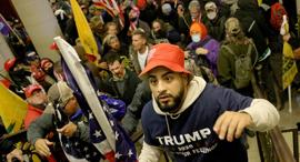 מהומות וושינגטון תומכי טראמפ ליד גבעת הקפיטול מפגינים עימותים  קונגרס  33, צילום: אם סי טי