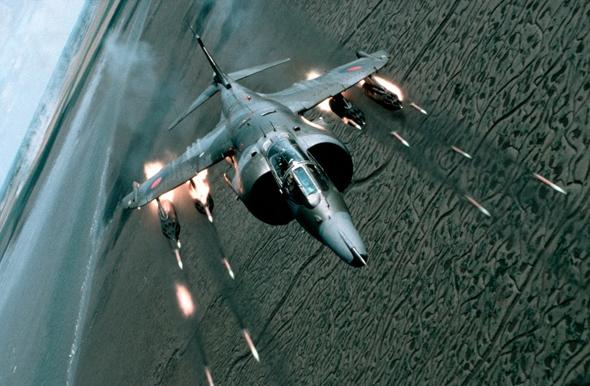 הארייר בריטי משגר רקטות באימון, צילום: RAF