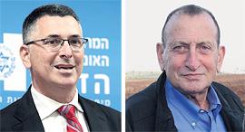 מימין רון חולדאי ו גדעון סער, צילומים: יריב כץ, עמית שאבי