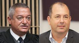 מימין אמיר ברמלי, השופט חאלד כבוב, צילום: אוראל כהן, שאול גולן