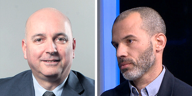 """מימין: אורי קרן מנהל ההשקעות במור גמל, אילן רביב מנכ""""ל מיטב דש , צילום: אולפן כלכליסט, עמית שעל"""