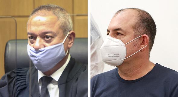 מימין: אמיר ברמלי והשופט חאלד כבוב