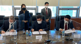 Signing ceremony between SixAI, ISC and Yozma Group Korea. Photo: SIXAI