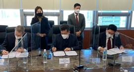 Signing ceremony between SixAI, ISC and Yozma Group Korea. Photo: SIXAI