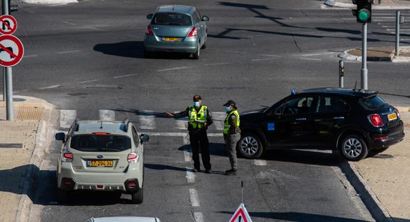 מחסום משטרתי בירושלים, צילום: שלו שלום