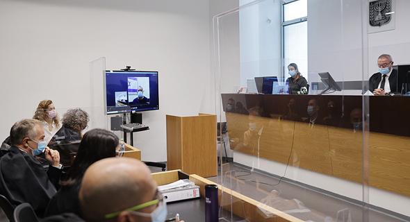 אמיר ברמלי בדיון אצל השופט חאלד כבוב, צילום: אוראל כהן