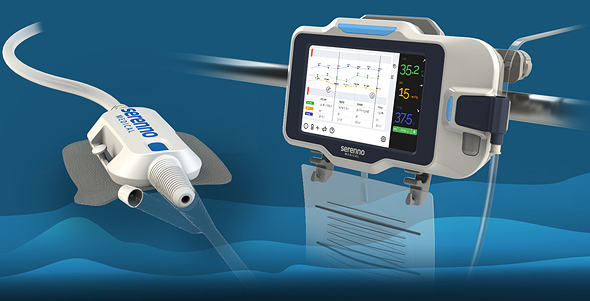 Serenno's medical device, Sentinel, which can be used in early detection of AKI. Photo: Serenno