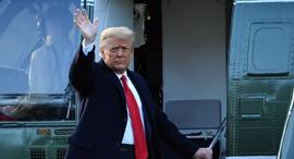דונלד טראמפ עוזב את הבית הלבן סיום כהונתו כנשיא, צילום: איי אף פי