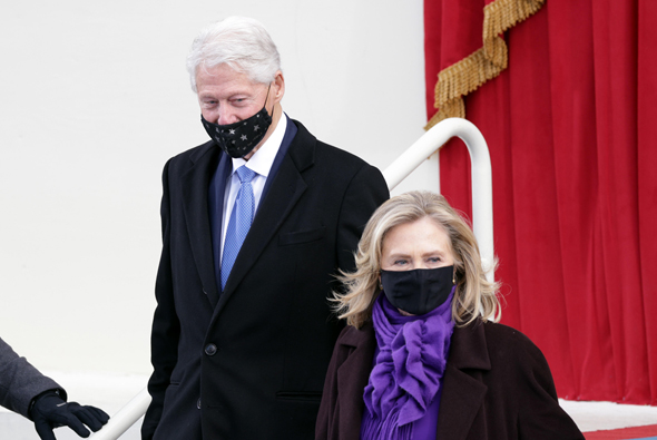 ביל והילארי קלינטון בטקס, צילום: גטי