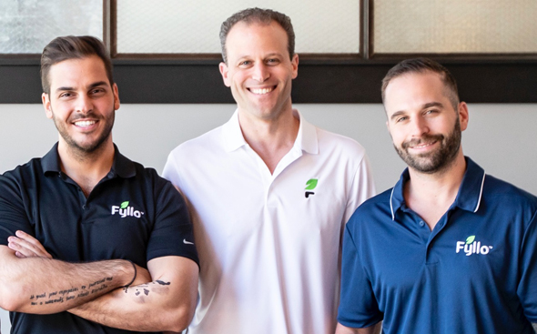 Fyllo co-founders Chak Bronstein (from right), Erik Shani and Aristotle Loumis. Photo: Fyllo