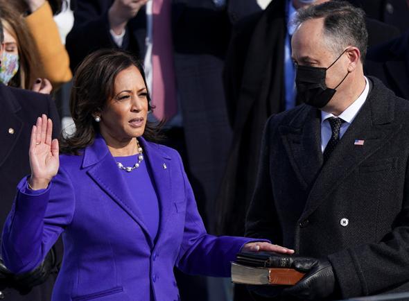 קמלה האריס מושבעת לסגנית הנשיא, צילום: רויטרס