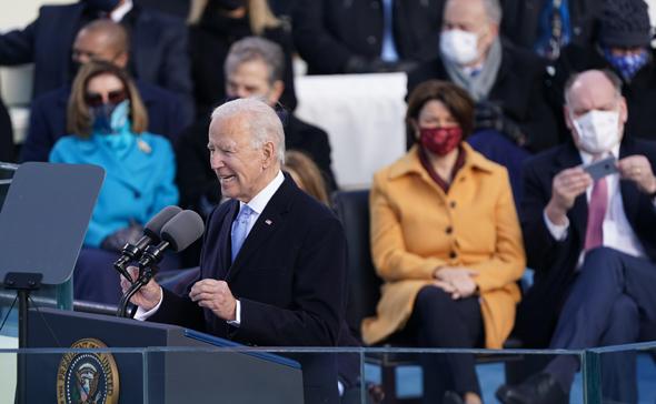 ג'ו ביידן בטקס ההשבעה