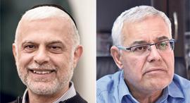 מימין: ז'קי לוי ואמנון כהן, צילומים: ידיעות העמק, יובל חן