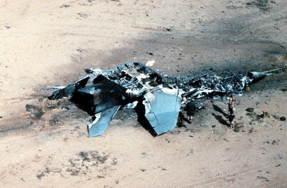 מיג 29 עיראקי שהושמד על הקרקע