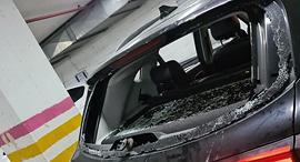 תוצאות התקיפה בבני ברק, צילום: דוברות המשטרה