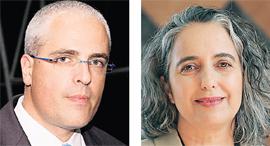 """יו""""ר רשות ני""""ע ענת גואטה ויו""""ר איגוד קרנות הנאמנות אלי בבלי, צילומים: אוראל כהן"""