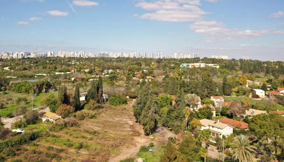 השטח המיועד לבניית השכונה בסביון, צילום: אוראל כהן