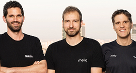 Melio co-founders Ziv Paz (left), Matan Bar, and Ilan Atias. Photo: Michael Tomarkin