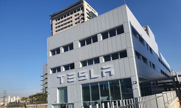 מרכז השירות החדש של טסלה בפתח תקוה, צילום: תומר הדר