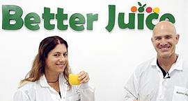 """ערן בלאצ'ינסקי מייסד ומנכ""""ל הסטארט-אפ Better Juice גלי ירום מייסדת משותפת"""