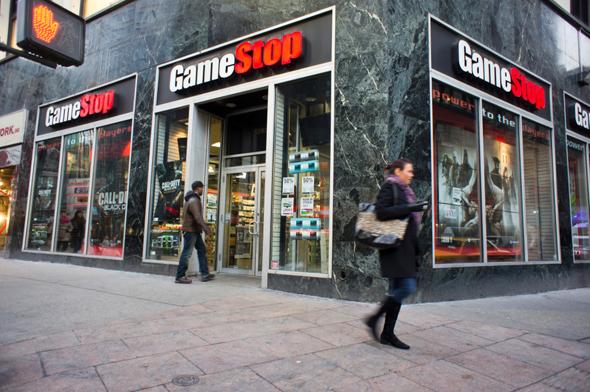 חנות משחקי וידאו של גיימסטופ בניו יורק