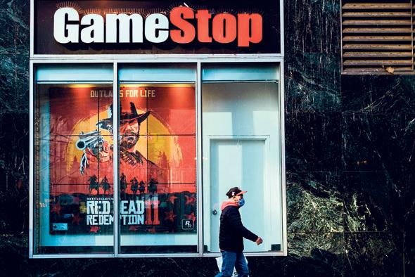 סניף של גיימסטופ בניו יורק. חנויות נסגרו בעקבות הקורונה