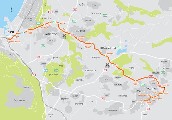 קו הרכבת הקלה נופית, באדיבות: חברת חוצה ישראל