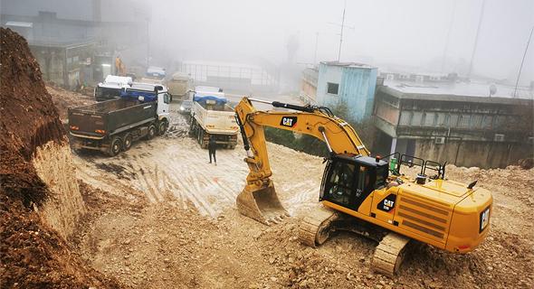 הכנת השטח לקראת הקמת תחנת קריית הממשלה בנוף הגליל , באדיבות: חברת חוצה ישראל