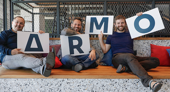 ARMO co-founders Benjamin Hirschberg (from right), Shauli Rozen and Leonid Sandler. Photo: Lior Tamim