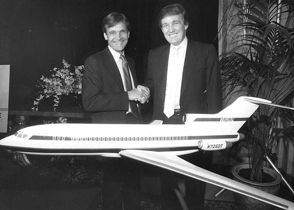 דיל מפתיע. טראמפ ולצידו פרנק לורנזו, צילום: גטי אימג