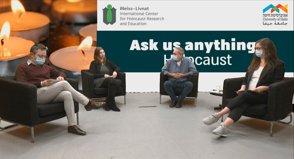 'The Q&A session with four graduates from the University of Haifa. Photo: University of Haifa