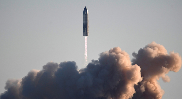 השיגור המוצלח של הרקטה, צילום: רויטרס