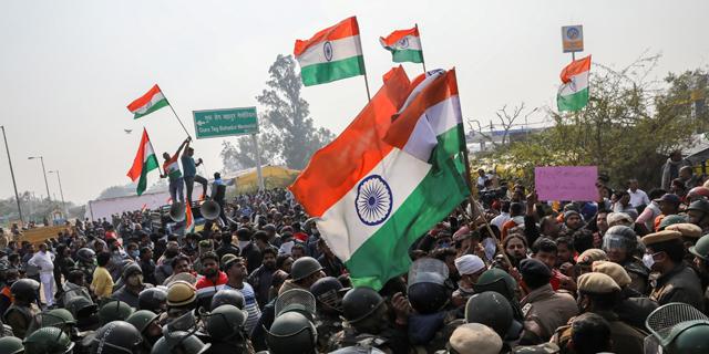 הפגנות חקלאים בהודו - הממשלה חסמה את האינטרנט