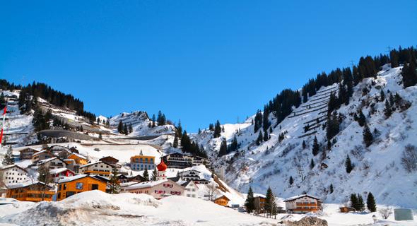אתר הסקי סנט אנטון באוסטריה