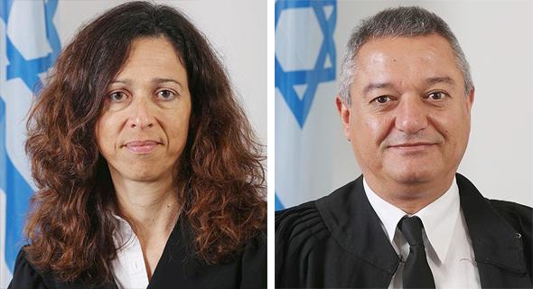 השופט חאלד כבוב והשופטת רות רונן, צילום: באדיבות אתר בתי המשפט