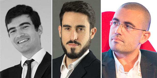 Oren Simanian (from right), Tomer Yehudayan and Nathan Moyse. Photo: Courtesy