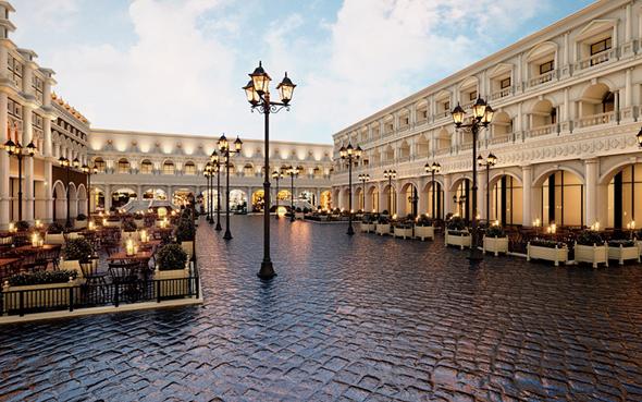 """מתחם הפיאצה. ישתרע על 5,000 מ""""ר, ויהווה העתק של מלון ונציה בלאס וגאס"""