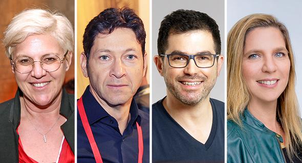 Merav Weinryb (from right), Eyal Niv, Yossi Moldawsky and Fiona Darmon. Photo: Orel Cohen/Yoram Reshef/Courtesy