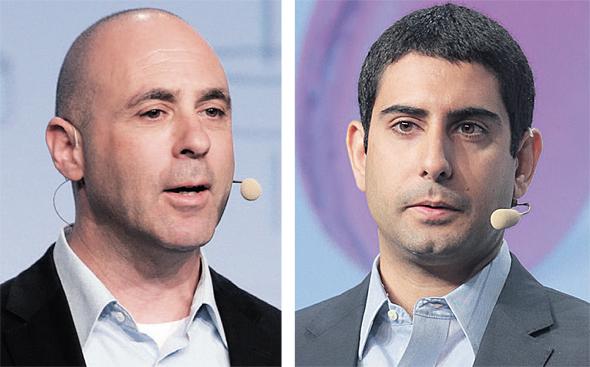 """מימין: עופר בן נון, מייסד ארגוס ובן וולקוב, מנכ""""ל אוטונומו, צילומים: אוראל כהן"""