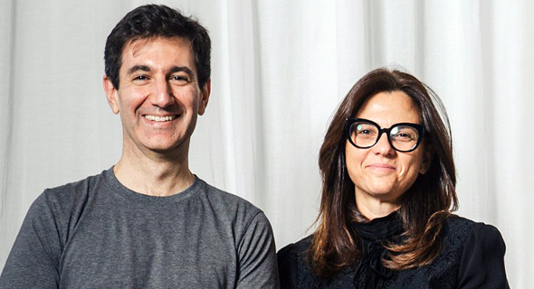 Payoneer CEO Scott Galit (left) and COO Keren Levy. Photo: Tommy Harpaz