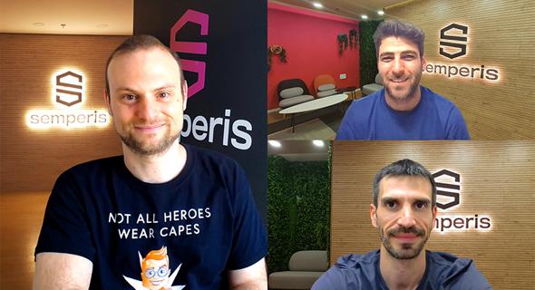 Semperis co-founders Mickey Bresman, CEO (left) Matan Liberman, EVP Business Development (top right) Guy Teverovsky, CTO (bottom left). Photo: Semperis
