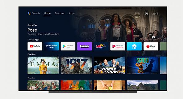 עיצוב גוגל טיוי TV ה אנדרואיד טיוי TV החדש, צילום מסך